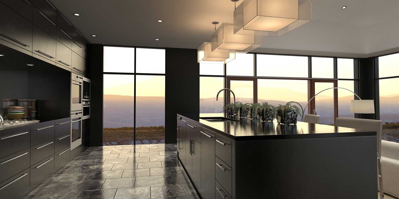 Contemporary, stylish kitchen design and fitting by Woodbrook Designs of Monmouth